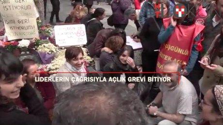 Ankara'daki açlık grevi son eriyor