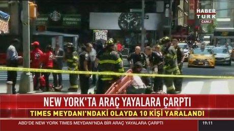 New York'ta araç yayaları ezdi