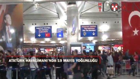 Atatürk Havalimanı'nda 19 Mayıs yoğunluğu