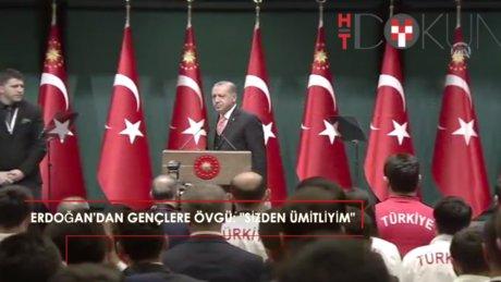 Erdoğan Beştepe'de gençleri kabul etti