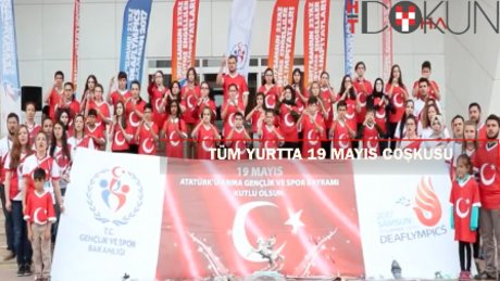 Yurtta 19 Mayıs coşkusu: İşaret diliyle İstiklal Marşı, atlı gösteriler...