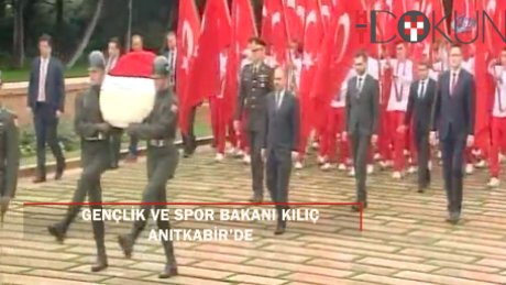 Gençlik ve Spor Bakanı Kılıç Anıtkabir'deydi