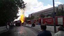Ankara Adliyesi önünde doğal gaz patlaması