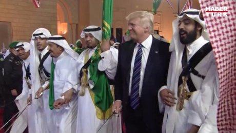 Donald Trump, Suudi Arabistan ziyaretinde geleneksel kılıç dansına katıldı