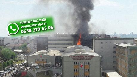 Halkalı'da Mehmet Akif Ersoy Hastanesi'nde yangın
