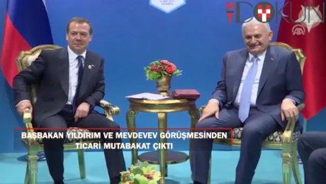 Başbakan Yıldırım Mevdevev'le görüştü