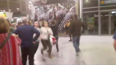İngiltere'deki patlama anı böyle görüntülendi