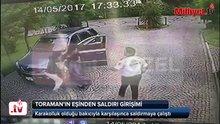 İbrahim Toraman'ın eşinin bakıcıya saldırma görüntüsü