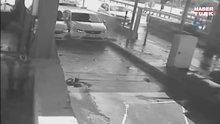 İnatçı sürücülerin kazası güvenlik kameralarına yansıdı