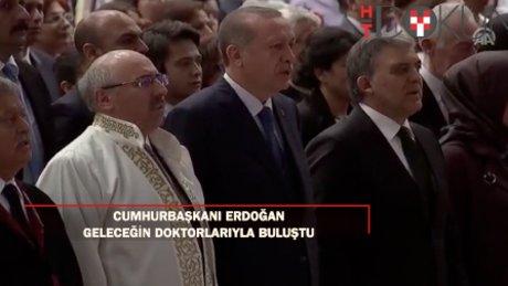 """Erdoğan tıp öğrencilerine hitap etti: *Başarının yolu..."""""""