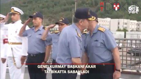 """Genelkurmay Başkanı Akar, """"Denizkurdu 2017"""" tatbikatı için sabahladı"""