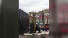 Atatürk anıtına baltayla saldırının yeni görüntüsü