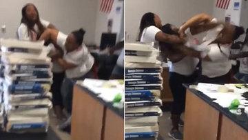 Öğretmenler tekme tokat kavga etti
