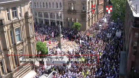 Manchester'da 1 dakikalık sessizlik