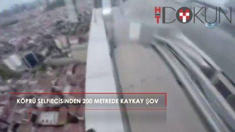 3. Köprü selfiecisinden 200 metrede kaykay şov