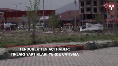 Ağrı'da teröristlerin tırları ateşe verdiği bölgede çatışma: 2 şehit