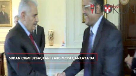 Başbakan Yıldırım Sudan Cumhurbaşkanı Yardımcısını Çankaya'da ağırladı