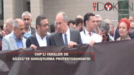 Sözcü Soruşturmasına Çağlayan'da protesto