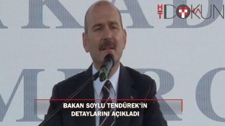 """Soylu'dan Tendürek açıklaması: """" 30-40 metre karşılıklı çatışmalarla..."""""""