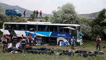 Ankara'da 8 kişinin hayatını kaybettiği kazanın mola görüntüleri ortaya çıktı