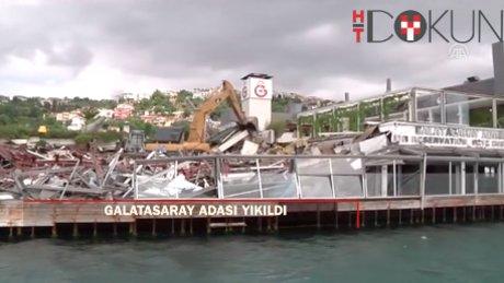 Galatasaray Adası'nda yıkım