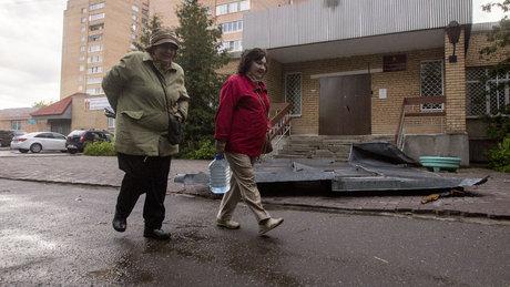 Moskova'da fırtına etkili oldu