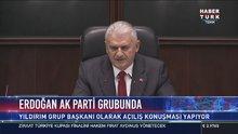 Başbakan Binali Yıldırım Başkan Vekili olarak AK Parti Grup kürsüsünde