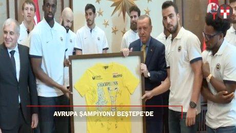 Fenerbahçe Basketbol takımı Beştepe'de