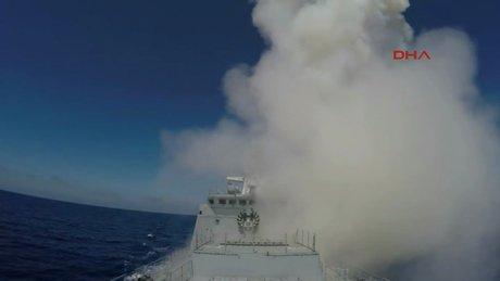 Rusya, DEAŞ'ı denizaltıdan vurmasına dair görüntüleri yayınladı