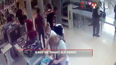 Havalimanında uyuşturucu operasyonu kamerada