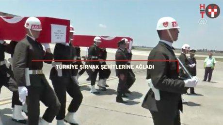 Türkiye 13 şehidini sonsuzluğa uğurladı
