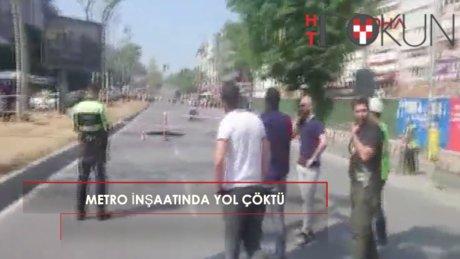 Beşiktaş Barbaros Bulvarı'nda yol çöktü