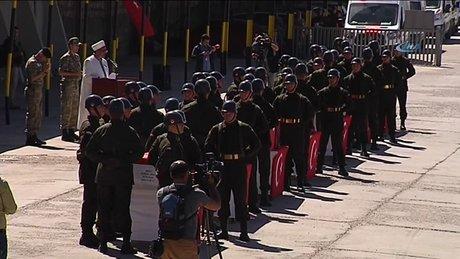 Şırnak'ta helikopter kazasında şehit olan askerler uğurlandı