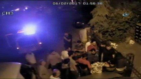 Mahallenin gençlerinden hırsızlara meydan dayağı kamerada