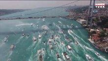 'Beşiktaş Donanması' Boğaz'dan geçti