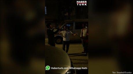 Esenler'de sahura kalkan gençler, Ramazan davulu eşliğinde böyle oynadı
