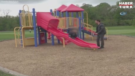 Telefonuyla uğraşan baba çocuğunun kaçırıldığını fark etmedi