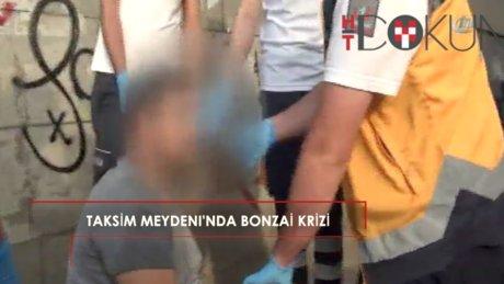 Taksim Meydan'ında bonzai kullanan genç yığılıp kaldı