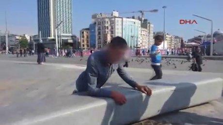 Taksim'de şoke eden manzara