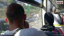 Gebze-İzmit yolunda kamyon devrildi trafik kilit
