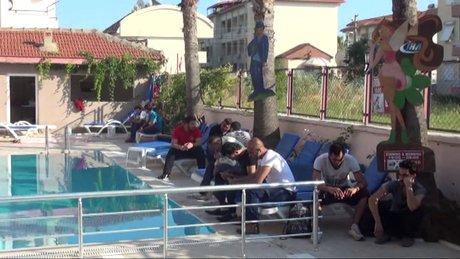Havuz başında yasa dışı göçmen operasyonu