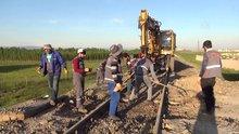 Demiryolu işçilerinin zorlu mesaisi