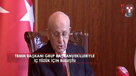 TBMM Başkanı Kahraman, 'Meclis İçtüzüğü' için grup başkanvekilleri ile buluştu