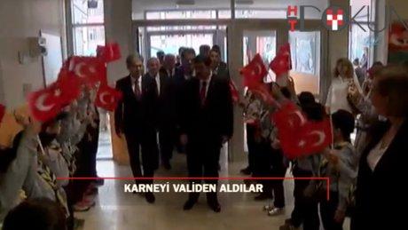 İstanbul'da karne heyecanı: Vali Şahin Karne Dağıttı