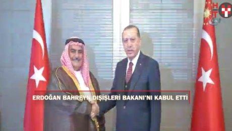 Cumhurbaşkanı Erdoğan, Bahreyn Dışişleri Bakanı Al-Khalıfa'yı kabul etti