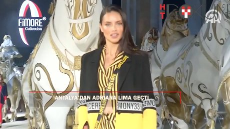 Adriana Lima Antalya'da podyuma çıktı
