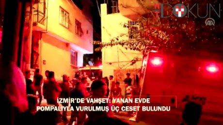 İzmir'de yangının altından cinayet çıktı