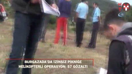 İzinsiz kamp yapanlara polis operasyon düzenledi