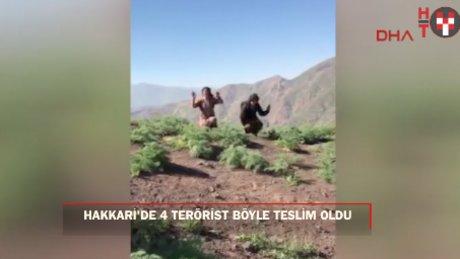 Hakkari'de teröristler böyle teslim oldu