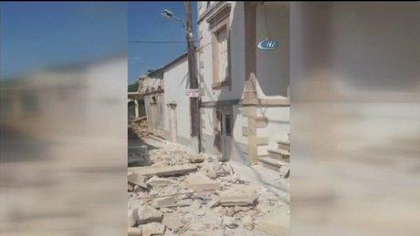 Ege Denizi'nde deprem! Yunanistan'da binalar yıkıldı